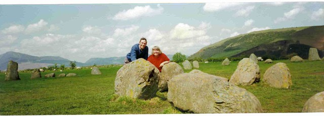 Paul & Bex at Castlerigg Stone Circle, Keswick, England