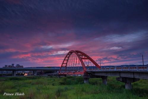 sunset clouds taiwan 南投 nantou 綠美橋 夕燒 sonya850 sony1635za lumeibridge