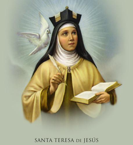 Santa Teresa De Jesus Aunque Me Canse Aunque No Pueda A