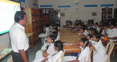 Information Literacy session at Library KV Pattom | by S.L.Faisal