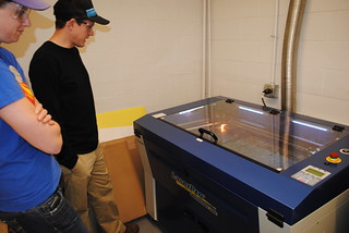 Laser cutting.. coool!!!! | by Thayer School Machine Shop
