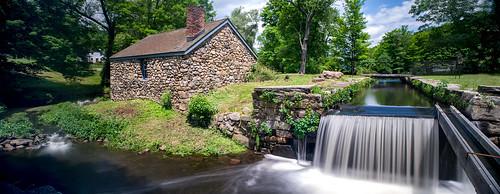 panorama canal lock nj tiltshift morriscanal musconetcong blacksmithshop waterloovillage d700 guardlock nikon24mmf35pcetiltshift