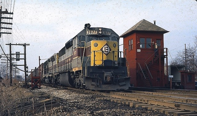 EL SD45-2 3677 Hammond, IN