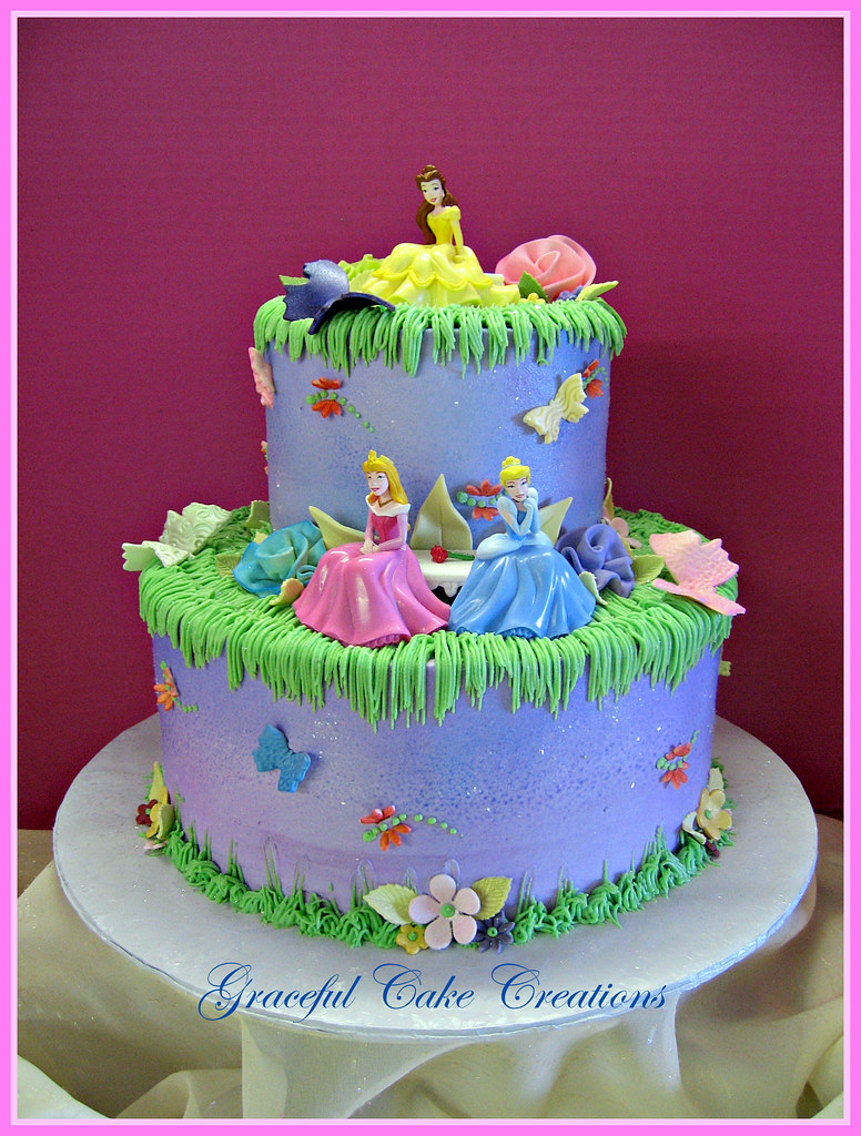 Excellent Disney Princess Birthday Cake Grace Tari Flickr Funny Birthday Cards Online Inifofree Goldxyz