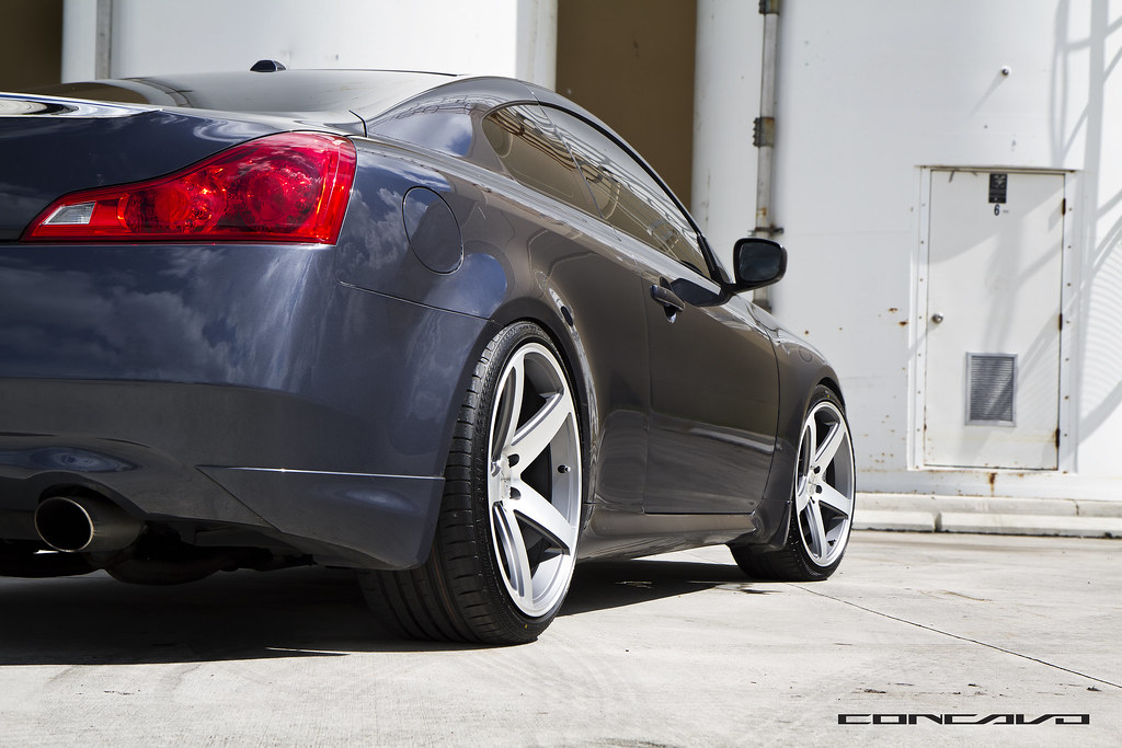 G37 Coupe On Cw 5 Matte Grey Machine Face Infiniti G37 Co Flickr