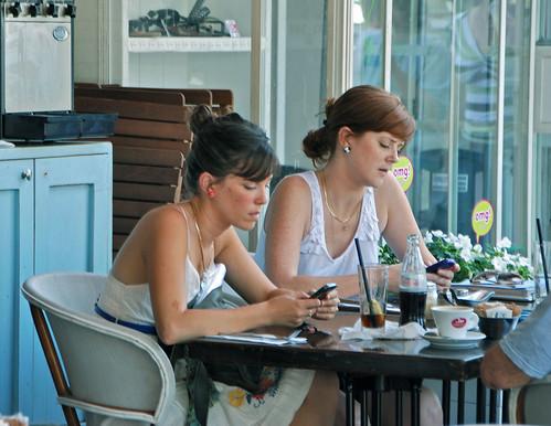 Texting in Tel Aviv