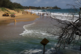 The steps to deep water!  Creek and lagoon at southern end of Kelly's Beach, Bargara. | by Witness King Tides