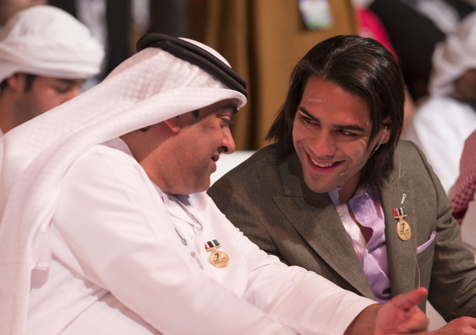 Mohamad Al Kamali and Radamel Falcao