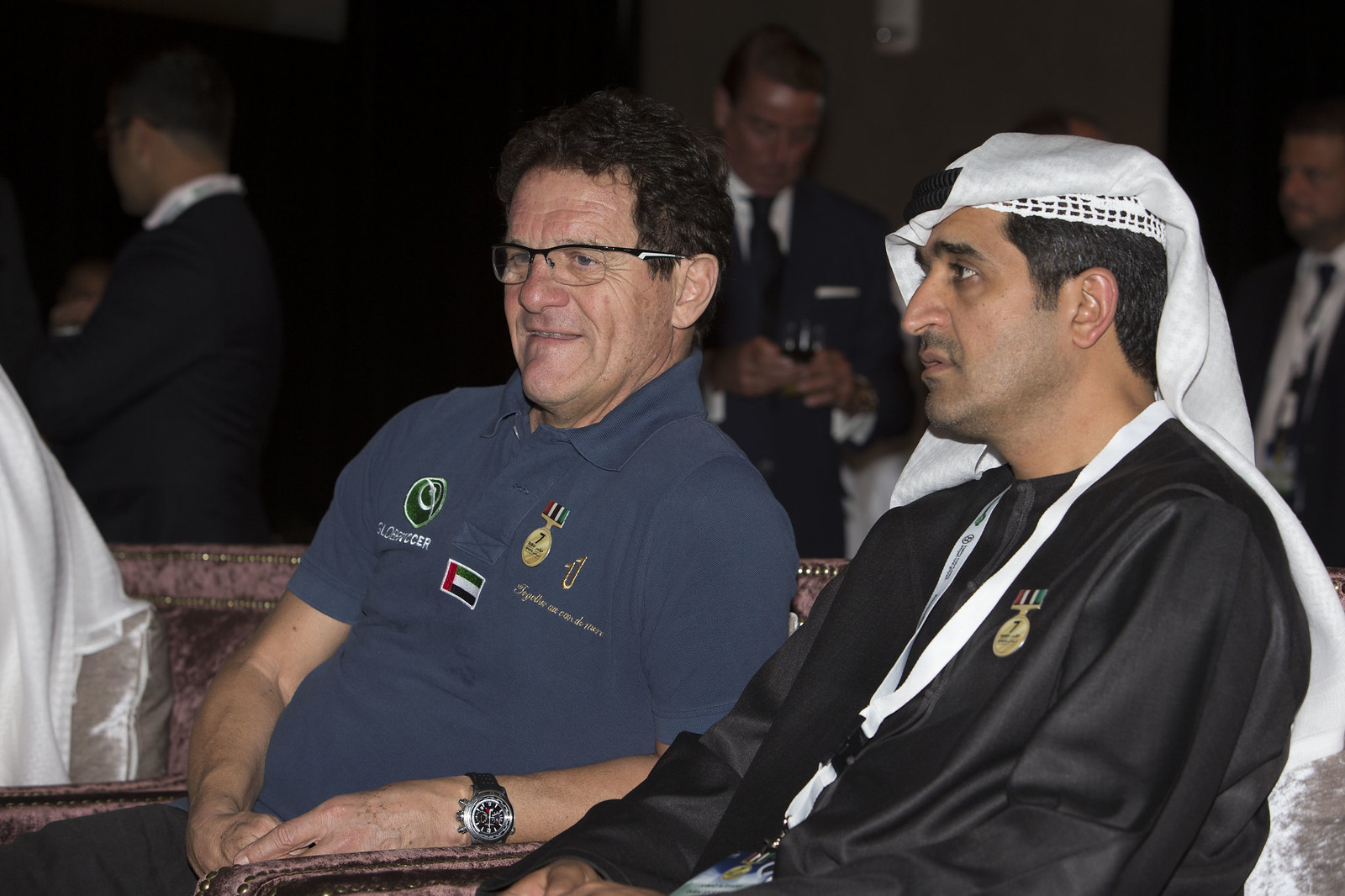 Fabio Capello and Ahmed Al Sharif
