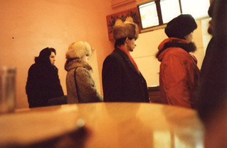 Queuing for Lunch in GUM