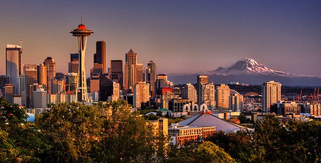 Clear Autumn Sunset, Seattle