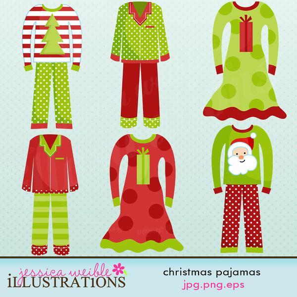 Christmas Pajamas Cute Clipart   www jessicaweible com/Clip
