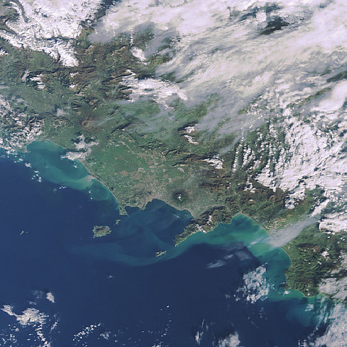 Bay of Naples  & Vesuvius - satellite 2009 | by The Classical World