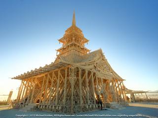 The Temple of Juno at sunrise, Burning Man  2012