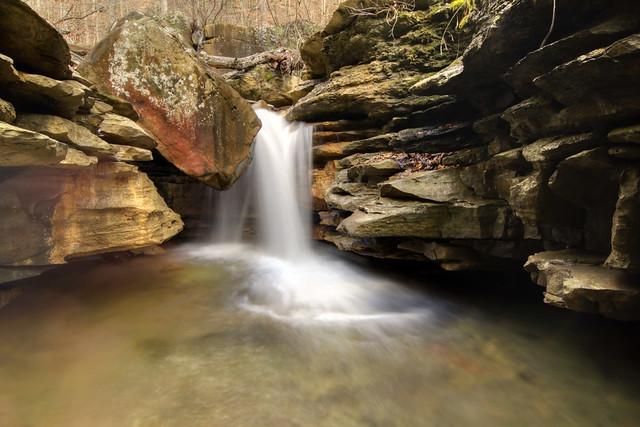 Unnamed waterfall, Big Laurel Creek, Virgin Falls SNA, White Co, TN