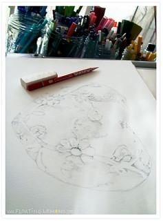 White Heart Sketch