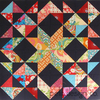 Star Burst quilt top