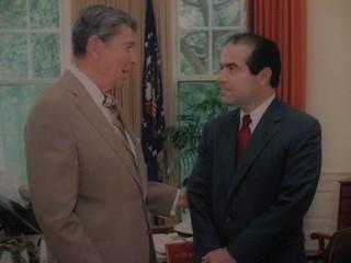 Reagan and Antonin Scalia | by JBrazito