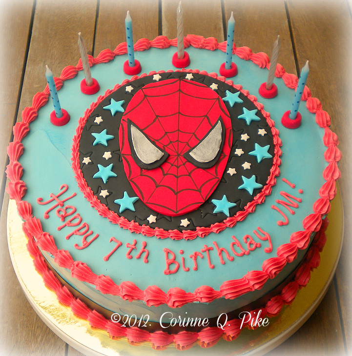 Admirable Spiderman 7Th Birthday Cake Pike Corinne Flickr Personalised Birthday Cards Epsylily Jamesorg