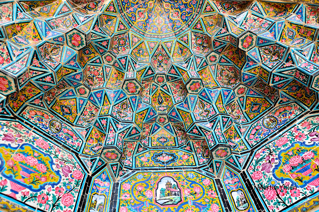 Iran, Shiraz, Masjed-e Nasir-al-Mulk (Nasir al-Mulk Mosque), Islamic Architecture