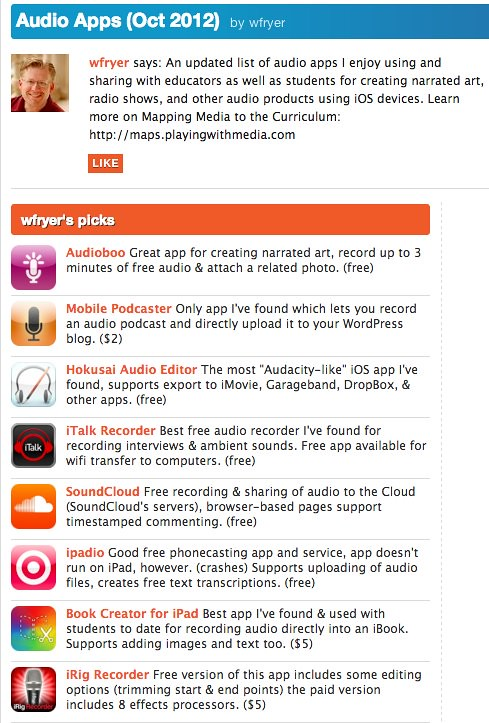 Best iPhone Apps: Audio Apps (Oct 2012) by wfryer   Appoli