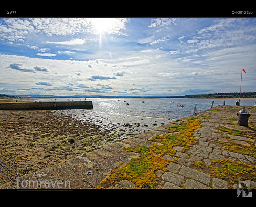 light sea sky sun water clouds bay scotland pier dock moray findhorn findhornbay tomraven aravenimage q42012