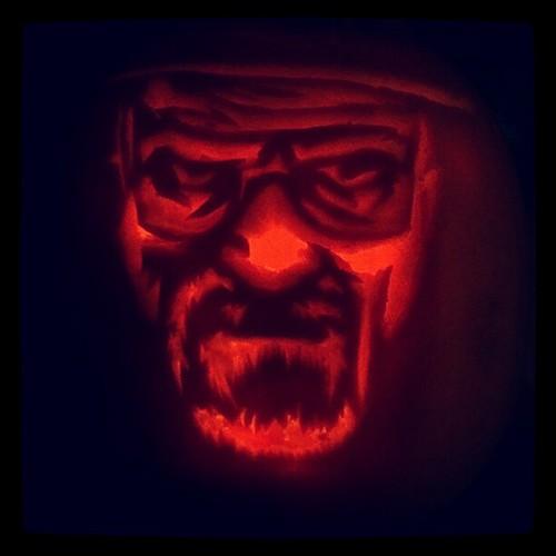 Breaking Bad's Walter White (Bryan Cranston) Jack O' Lantern | by edwaado