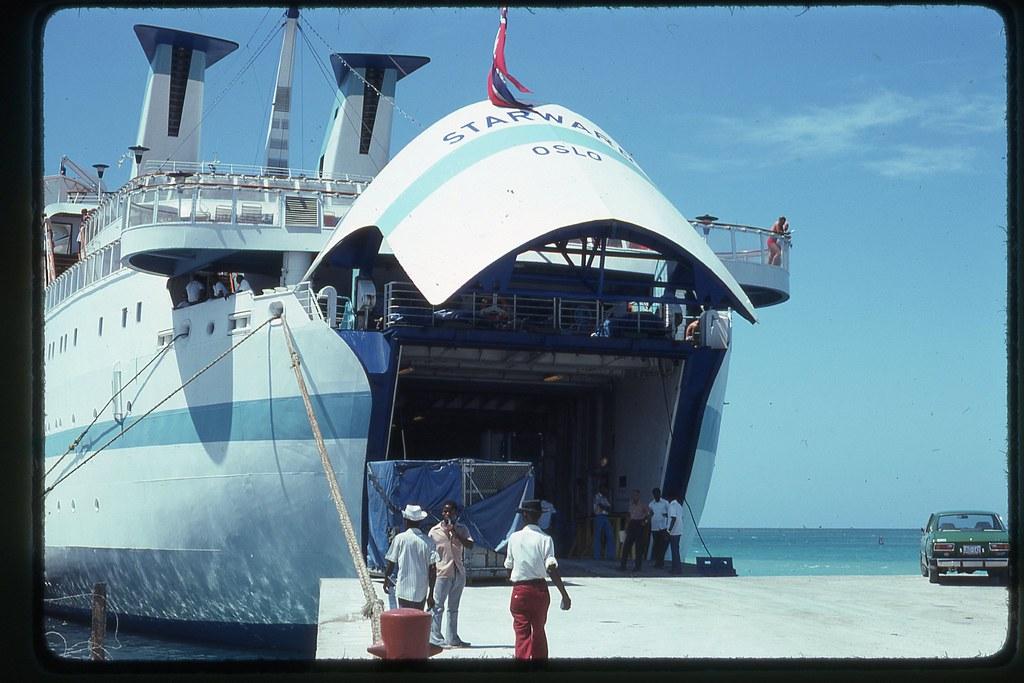 Loading the Starward - Haiti, 1975