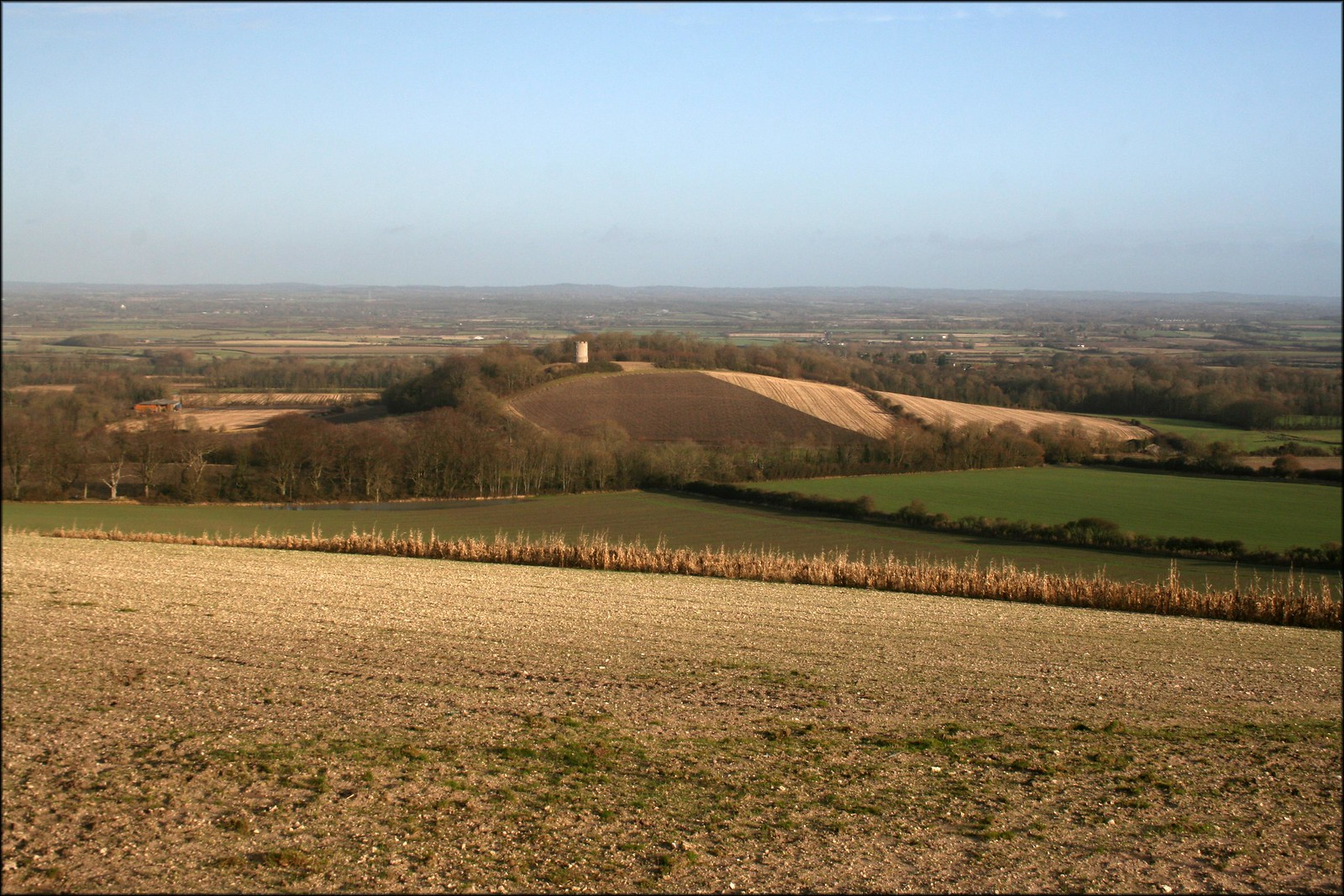 Firle Tower from the South Downs near Firle