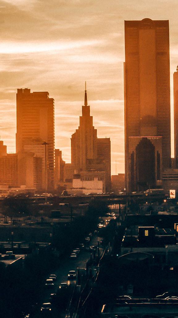sunset-view-buildings-city-4k-d3-2160x3840  HD wallpaper