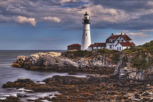 portland light maine atlantic newengland hdr coast oceanscape outdoor