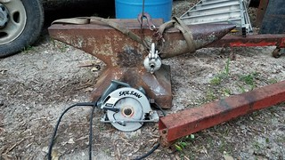 Compared to a Skilsaw. 540# anvil, REAL ANVIL! | by fierocious1