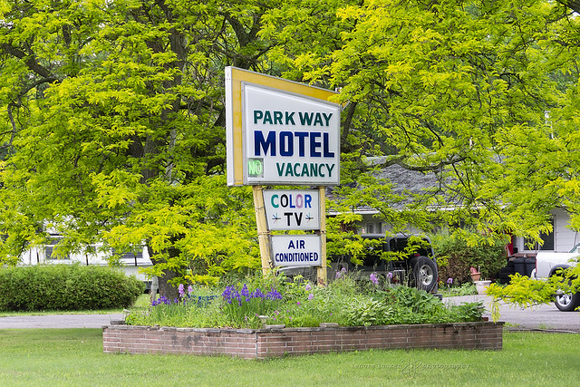 parkway motel in early june