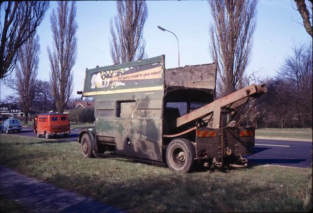 03660 - KXW 145 - A1 near Welham Green - 22 Mar 1972