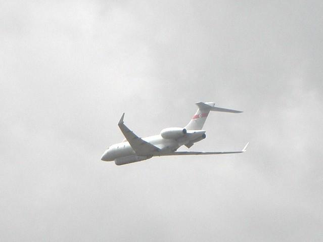 A military aircraft at the 2010 Farnborough Air Show
