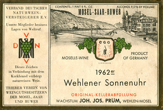 1962 - Wehlener Sonnenuhr (Mosel)