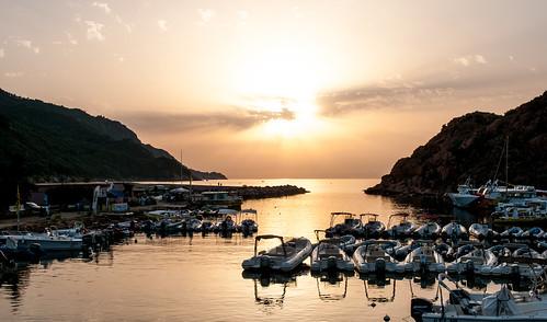 Sunset over Golfe de Porto, Corsica   by Anna & Michal