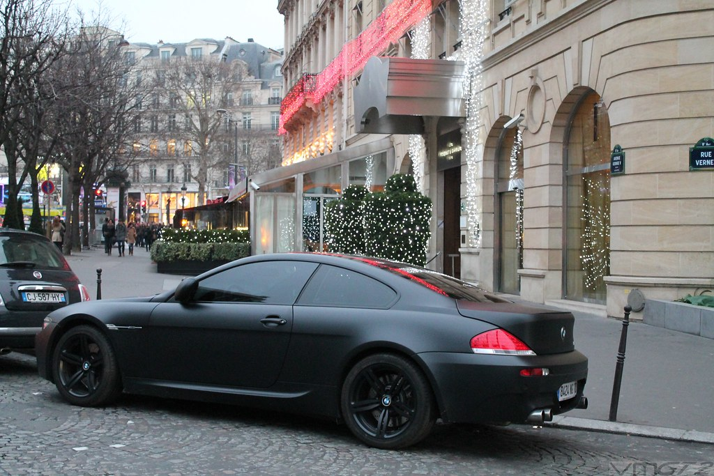 Matte Black Bmw M6 Coupe Paris 05 01 13 Vmgt2 Automotive Photography Flickr