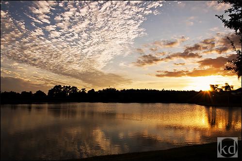 blue sunset sky orange white lake reflection water yellow clouds nikon lakesunset nikond90 wesleychapelfl nikond90club