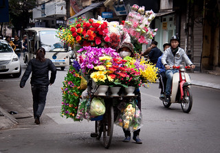 Flower Vender in the Old Quarter, Hanoi - Vietnam | by ChrisGoldNY