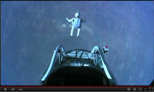 The moment of the jump by FELIX BAUMGARTNER | by matthewwu88