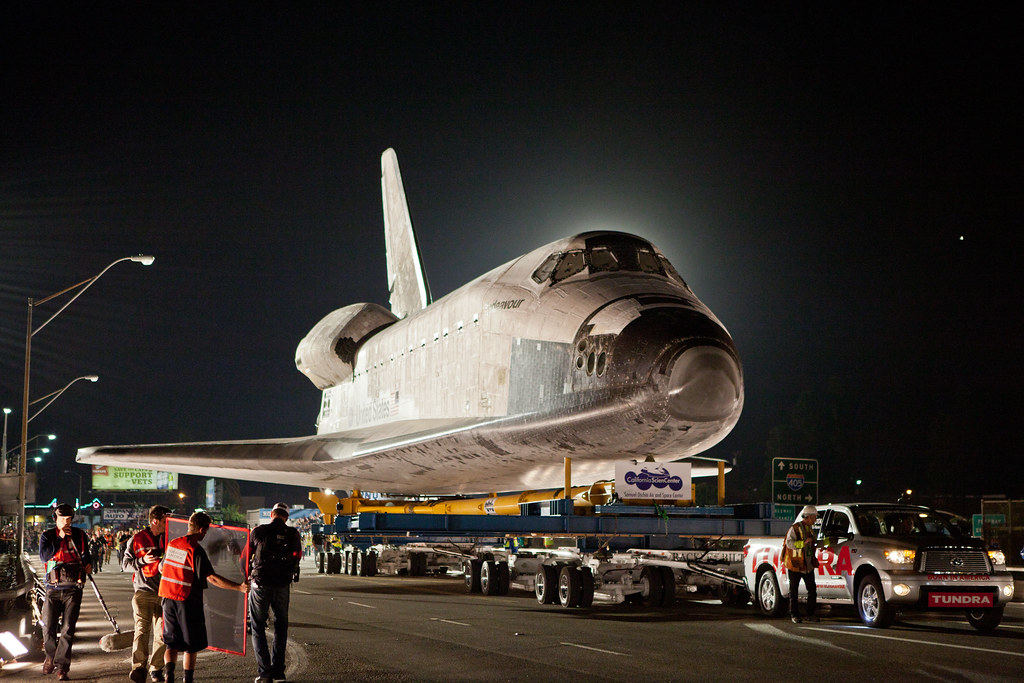 Toyota Tundra Pulls The Space Shuttle Endeavour Mission Ac