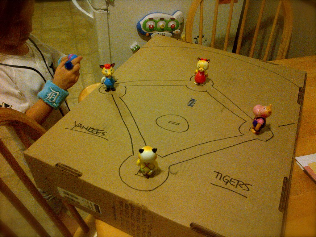Cardboard Baseball Game Brian Dewagner Flickr