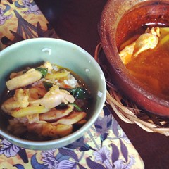 Final course I made: stewed chicken in clay pot with ginger and coconut water, pretty good