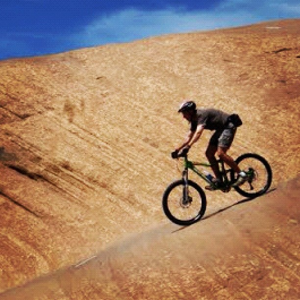 Mark Coble at Slick Rock Trail, Moab, Utah.  Mark and I went there two years ago and had the best time ever!  This trail is so much fun to ride!