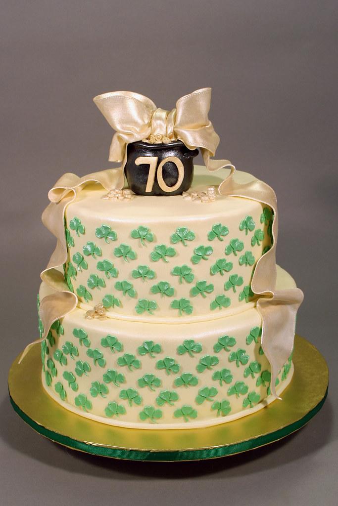 Sensational Irish Themed 70Th Birthday Cake Decorated In Fondant Rkt Flickr Personalised Birthday Cards Veneteletsinfo