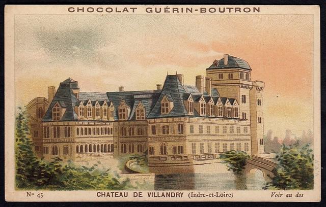 French Tradecard - Chateau de Villandry