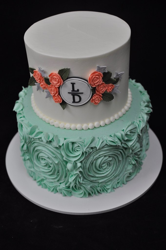Excellent Monogram Birthday Cake Jenny Wenny Flickr Funny Birthday Cards Online Alyptdamsfinfo