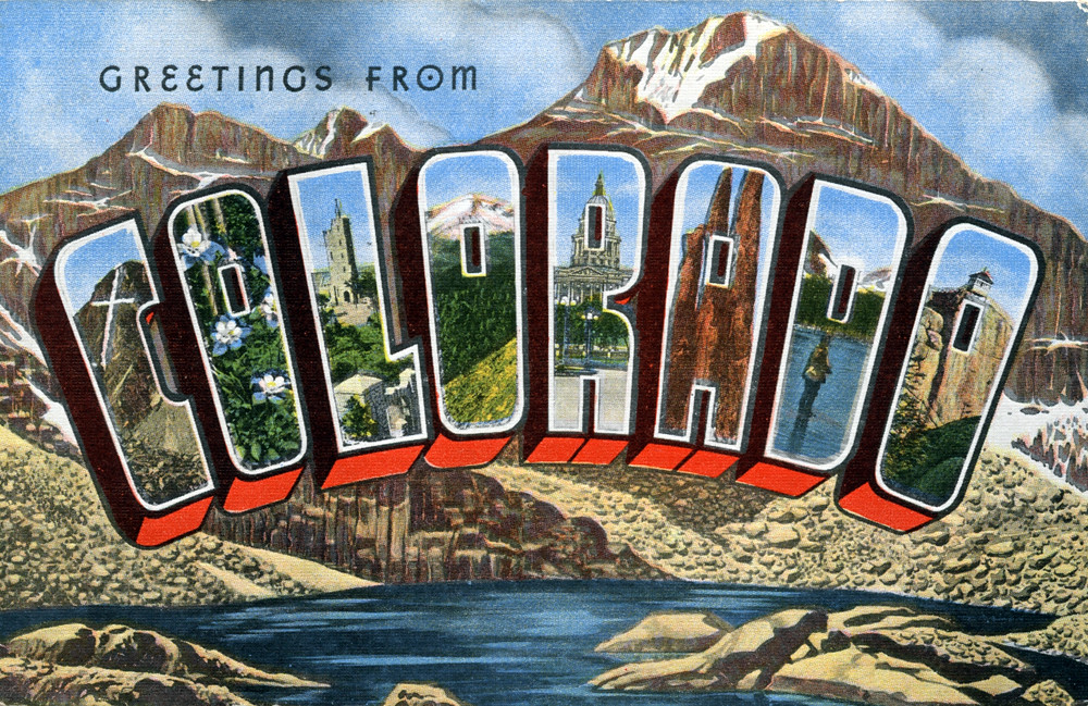 Greetings from Colorado - Large Letter Postcard