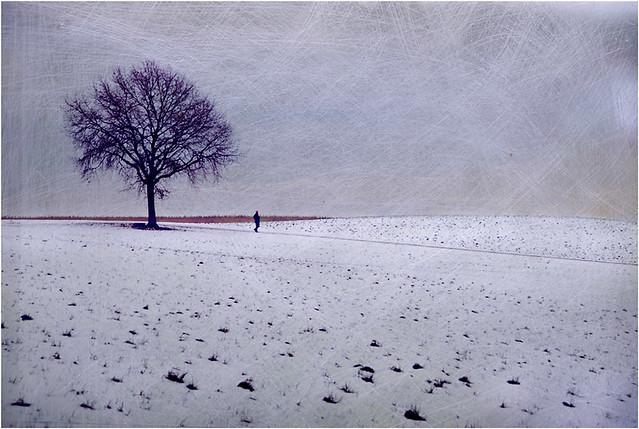 Blue snow....